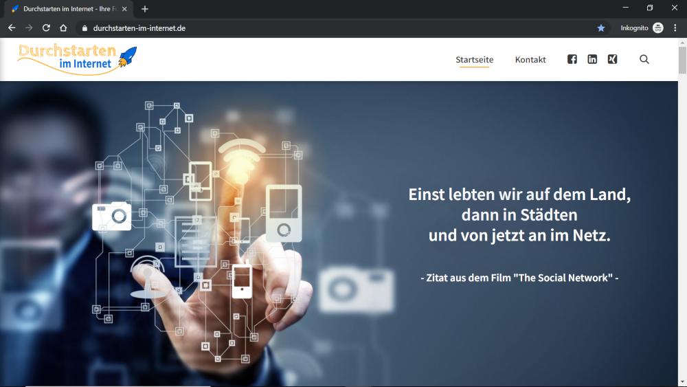WordPress Frontend Unternehmenswebsite