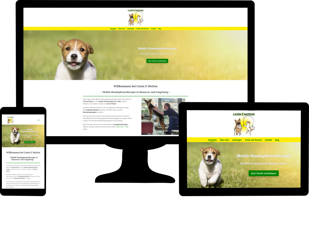 Kundenwebsite Canin-E-Motion