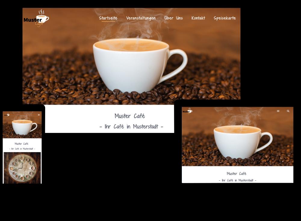 Beispiel-Unternehmenswebsite Muster Cafe