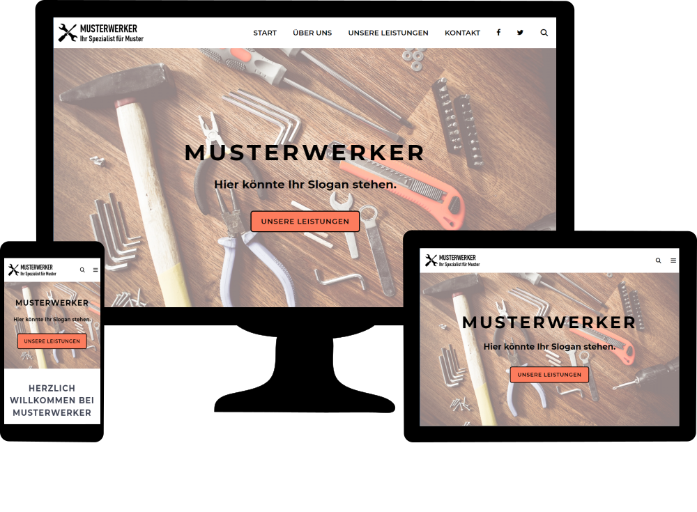 Beispiel-Unternehmenswebsite Musterwerker