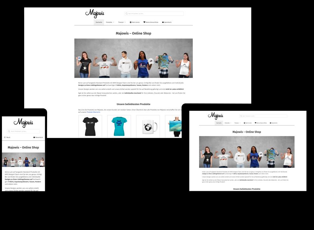 Kundenprojekt Majowis Shop