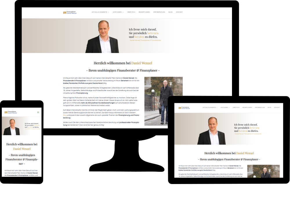 Kundenwebsite Daniel Wenzel